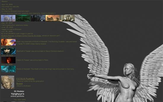 【3DCG】 彫刻もすばらしい。3Dモデラー『Yonghyun Kim』氏