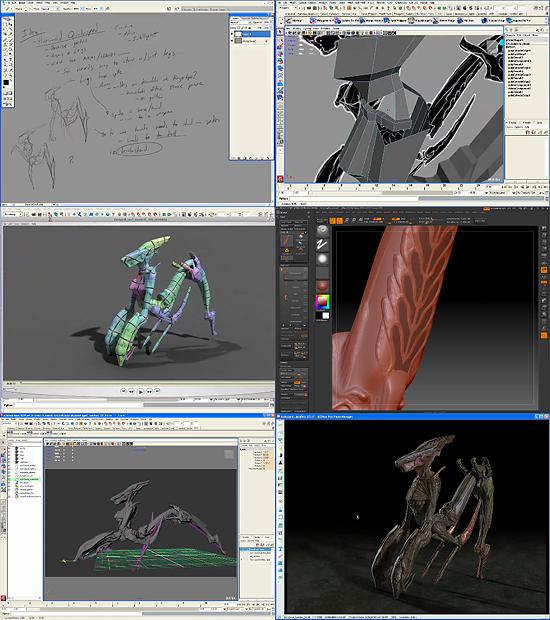 【3DCG】 デザインからモデリング、トラッキング、合成までクリーチャー制作過程を収録した動画