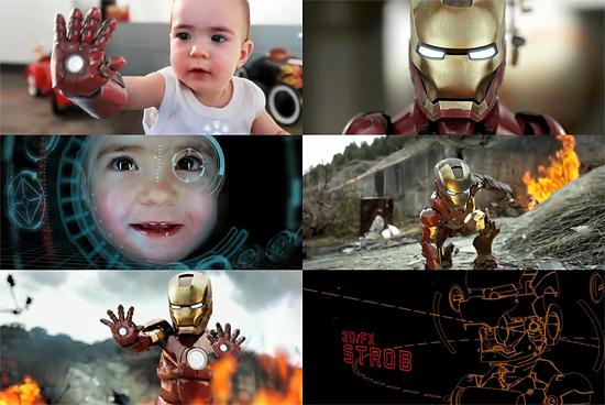 『IRON MAN』結構再現してます。 自主制作『IRON BABY』