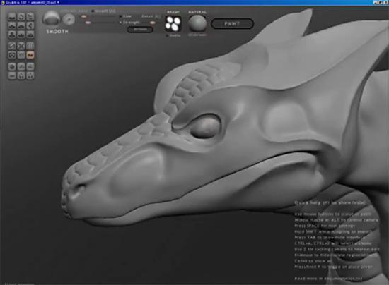 【3DCG】 スカルプトツール『Sculptris』でドラゴンを作っていくムービー