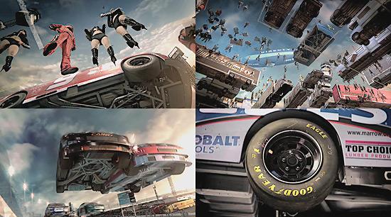 【3DCG】 アメリカ最大規模のモータースポーツ『NASCAR』を地面の中から見るとこうなる