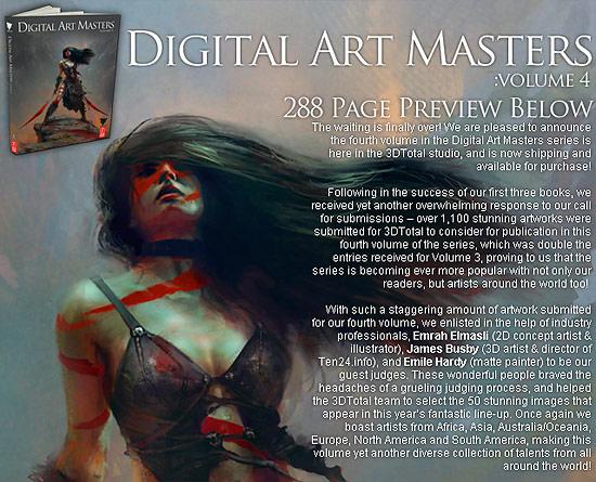 【その他】 海外のCG作品集『Digital Art Masters: Volume 4』のプレビューサイトが公開