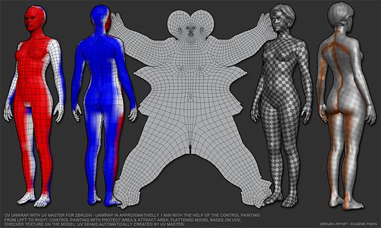 【3DCG】 Picologicから Zbrushの無償UV展開ツール『UV Master』がリリース