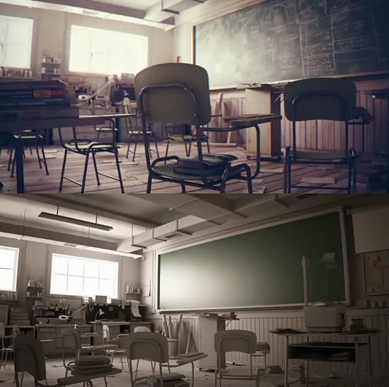実写かと思えばフルCG 非常にリアルな作品 『Classroom』