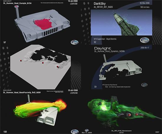 【3DCG】 映画『G.I.ジョー』のプレビズ映像や金属の溶けっぷりが確認できる動画