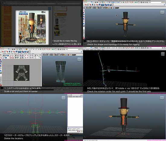 【3DCG】 モデリングからリグ、レンダリングまで!レイトン教授を製作するチュートリアル