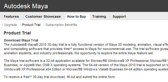【3DCG】 Autodesk『Maya 2010』と『Mudbox 2010』の30日間 体験版配布開始