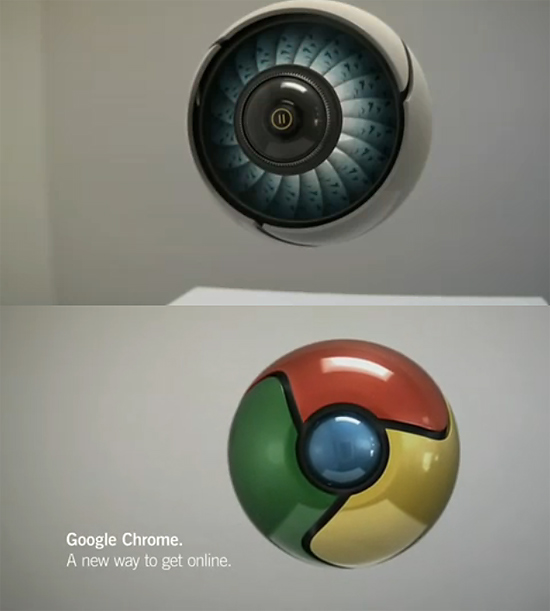 【3DCG】 Imaginary Forces社による.Google Chrome Icon Projectの作品 『Interactive Reaction 2009』