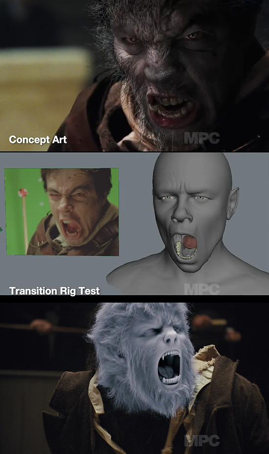 MPCによる『映画Wolfman』のブレイクダウン映像
