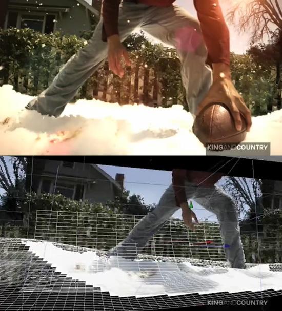 カメラマップを使用して写真を立体的にした動画