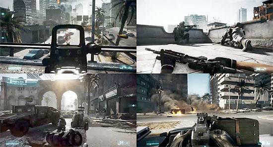 ゲーム『Battlefield 3』のプレイ動画3本