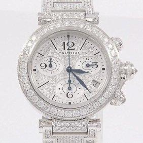 (カルティエ) Cartier WJ130008 パシャシータイマーレディクロノ WG/D・ブレスZD