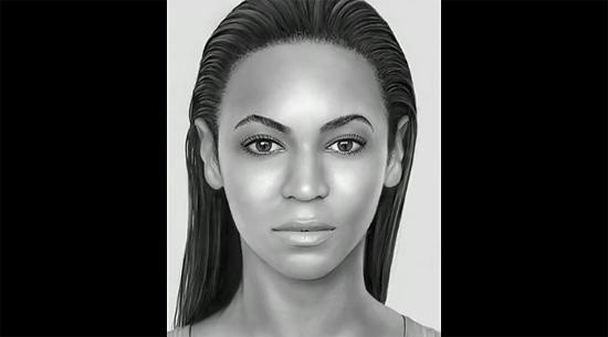 iPadで描くビヨンセ