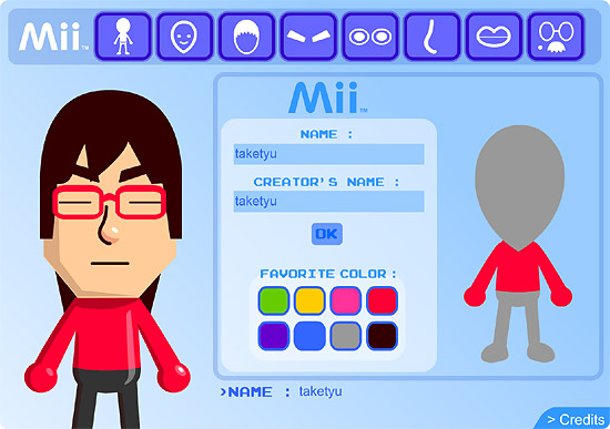 WiiのMii作成体験