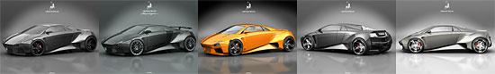 【3DCG】学生がデザインしたランボルギーニのコンセプトカー