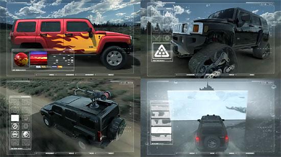 【3DCG】 車体をゲームのようにカスタマイズ『HUMMER』のCM