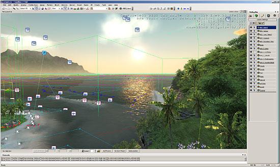 【3DCG】 ゲーム『Crysis』のエディター『Sandbox2』。一部データはobjで出力可能