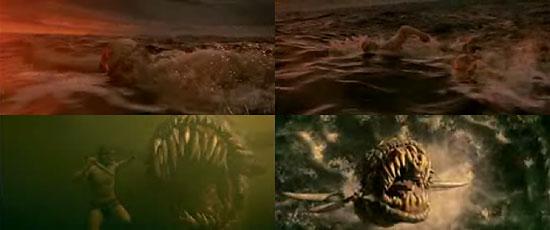 【3DCG】 フルCG映画『Beowulf(ベオウルフ)』のトレーラー第5弾『Sea Monsters』