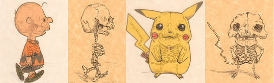 【その他】 アニメキャラクターの骨格イラストにチャレンジした人