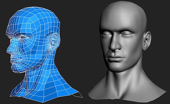 【3DCG】 男性の頭部のモデリングチュートリアル