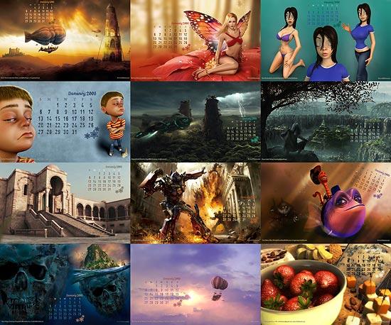 【3DCG】 CGArena CGの2008年壁紙カレンダー無料ダウンロード中