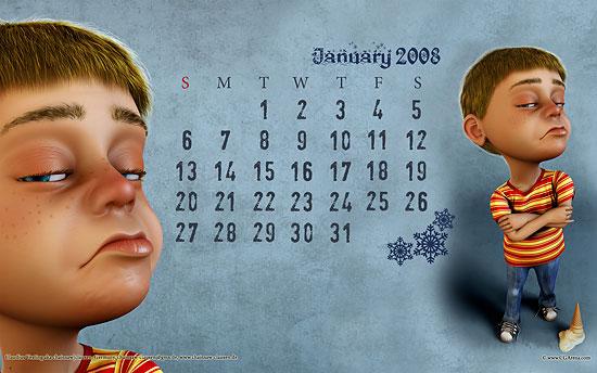 【3DCG】 CGArena CGの2008年 壁紙カレンダー無料ダウンロード中