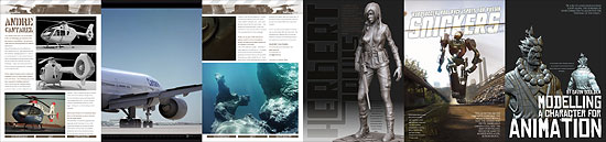 【3DCG】 海外CGマガジンpdf『3DCreative Magazine』2008年1月号リリース