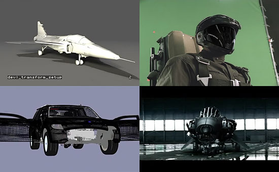 【3DCG】 戦闘機から車へトランスフォーム 『SAAB(サーブ)』のCM
