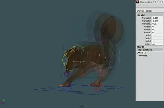 【3DCG】 リスのお尻がキュート キャラクターリグに特化したデモリール