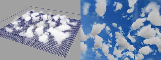 【3DCG】 フルイド(FLUID)で雲を作成するチュートリアル for Maya