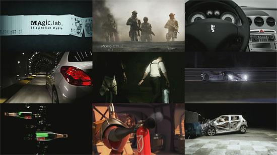 【3DCG】 車をCGでオフセット衝突等 『MAgic.lab.』2008年版デモリール