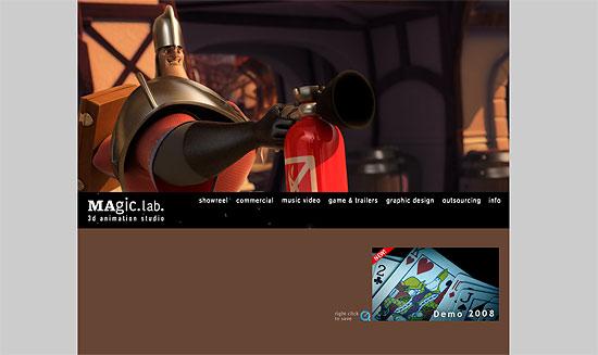 車をCGでオフセット衝突等 『MAgic.lab.』2008年版デモリール