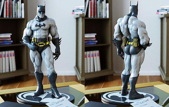 【3DCG】 MUDBOXで作っちゃった 超ムチムチなバットマン