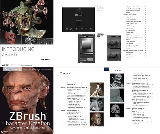 【3DCG】 Zbrushの参考書(2冊)をチラ見出来るサイト