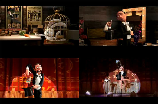 【3DCG】 Pixar 『WALL-E』と同時上映される 短編作品 『Presto』 のフルムービー