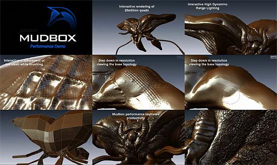 【3DCG】 2500万ポリゴンでもなんのその!『Autodesk Mudbox 2009』 パフォーマンスプレビュームービー