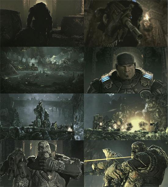 【3DCG】  プリレンダー?リアルタイム?Xbox360『Gears of War 2』トレーラー