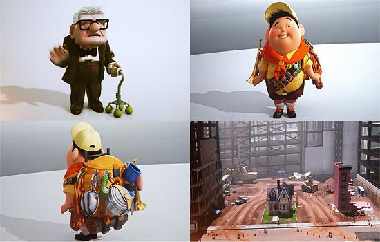 【3DCG】 PIXAR次々回作『UP』のキャラクターレンダー画像