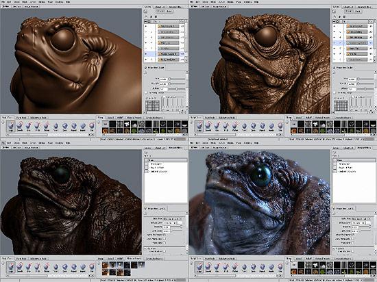 【タレコミ】 超いい感じの質感でリアルタイム 『Autodesk Mudbox 2009』 パフォーマンスプレビュームービー3