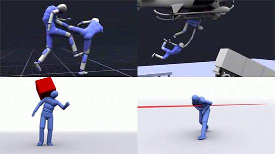 【3DCG】 リアル過ぎて痛々しい。人の挙動シュミレーションソフト『Endorphin』