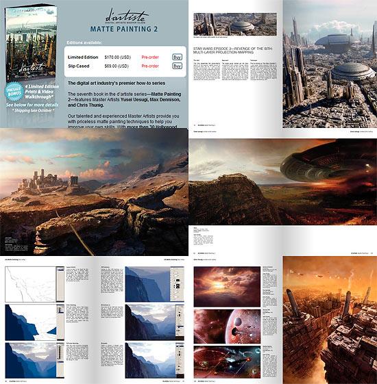 【その他】 マットペイントチュートリアル本『d'artiste Matte Painting 2』本家サイトで予約受付中