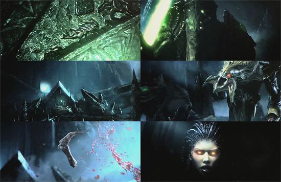 石碑の質感とかヤバイし 『Starcraft2』 新作CG