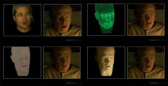 【3DCG】 いかにして老人の顔が出来上がったか 映画『ベンジャミン・バトン 数奇な人生』ブレイクダウン