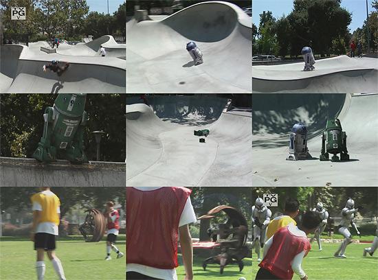 【3DCG】 スケートパークにR2D2が乱入 STAR WARS clone_wars』のCM