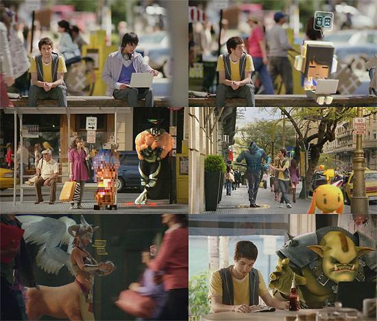 【3DCG】 街中の人が色んなキャラクターに変身 コカコーラのCM『Avatar』