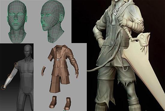 【3DCG】 FF10のティーダーを MayaをZbrushでモデリングするチュートリアル