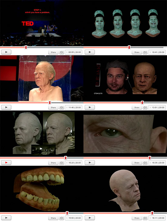 【3DCG】TEDでベンジャミンバトン解説 『How Benjamin Button got his face』