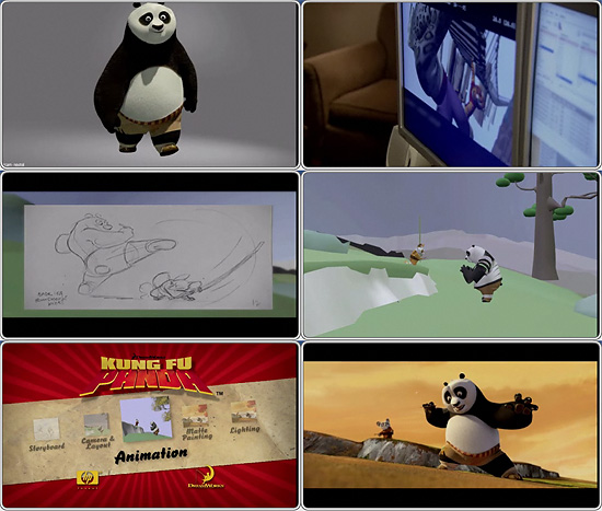 【3DCG】 ドリームワークスのHPにてカンフーパンダ等のメイキング映像