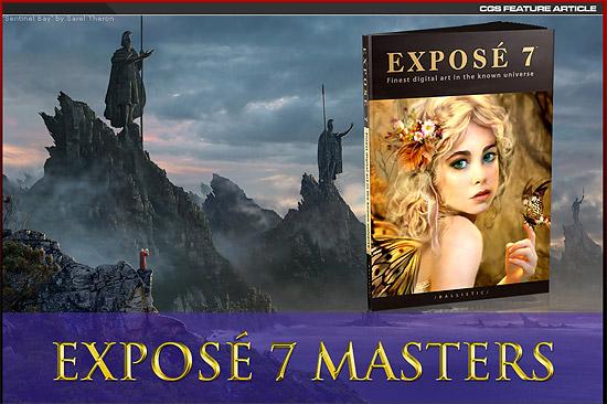 【その他】 海外CG作品集『EXPOSE 7』に掲載された20人のアーティスト