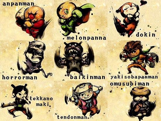 【2DCG】 ニコニコ動画 『アンパンマンのキャラクターを格ゲー風に描いてみた』